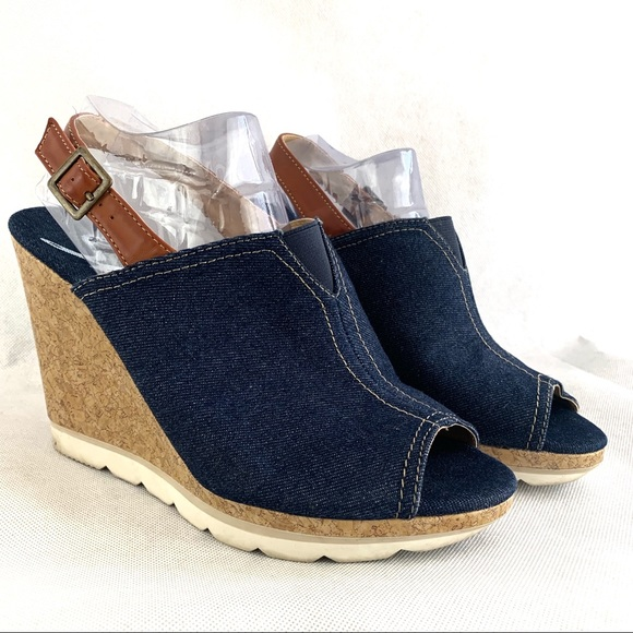 Skechers Shoes | Skechers Denim Wedge